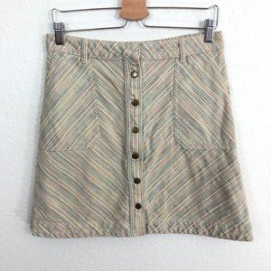 Pilcro and the Letterpress Anthro Jean Skirt Sz 10